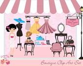 Boutique Clip Art Set