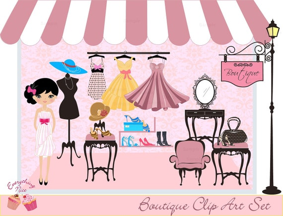Boutique Clip Art Set