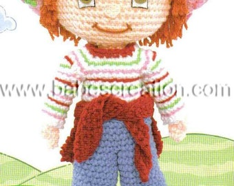 40% SALE Strawberry Shortcake Amigurumi Pattern Girl Crochet Pattern: INSTANT DOWNLOAD