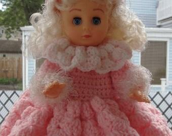 Pajama Bag CROCHET PATTERN Pinkie Girl Doll