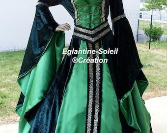 "Dress medieval custom ""ELFIA"" Gothic, Celtic, magical, fantasy."