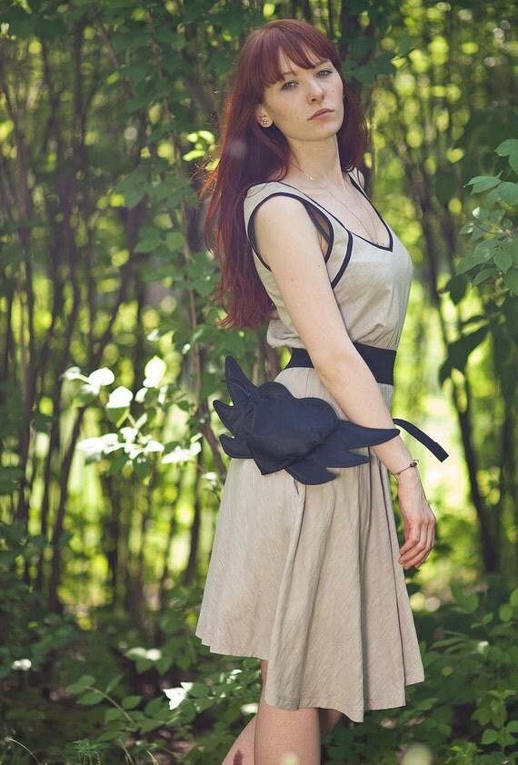 Hip Bag Purse Winged Heart Bag Purse Valentines Day Black Bag Black Purse Glam Party Evening Bag Purse Spring Fashion