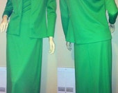 SALE! Green Maxi Dress and Jacket Set