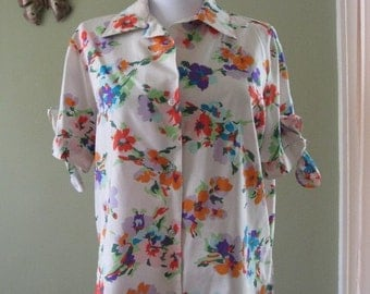 Vintage Floral Shirt with Tie Sleeves.