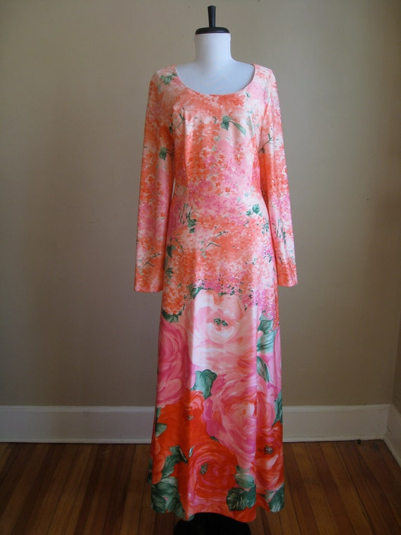 Vintage 1960s 60s POSH by Jay Anderson Saks Fifth Avenue Floral Dress.