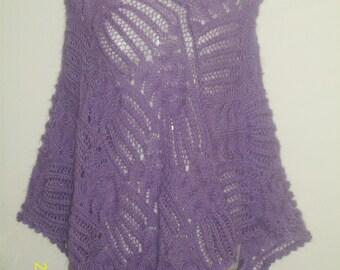 poncho knitted angora wool.