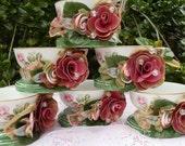 2 Rose Garden Tea Party Tea cups
