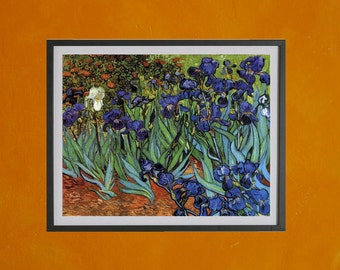 Irises, Van Gogh, 1889 - 8.5x11 Poster Print - also available in 13x19 - see listing details