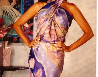 MADE TO ORDER - Hand Painted Custom Sarongs - in your Colors, Custom Designs for you, Made in California, One of a Kind,