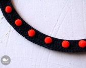 Neon Dots Crochet Neckalce