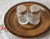 Vintage French Glass Salt & Pepper Shakers