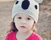 Handmade Crocheted Koala Hat