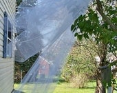Long Royal Cathedral Length Wedding Veil Made to Order Blusher 2 Tier Pencil Edge