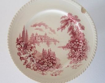 """Castle on the Lake by Johnson Bros England 10"""" Plate"""