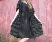 Glittery Gold and Black 70's Muumuu Dress