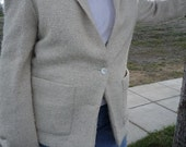 Womens Cream Colored Vintage Blazer - Size Medium to Large