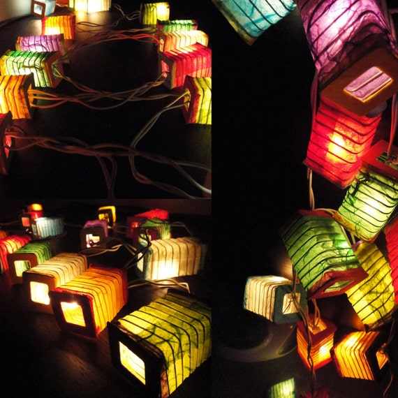 20,35 New Asian Multi Design Color Chinese Paper Lantern Fairy String Lights Patio Party Wedding Gift Wall Hanging Home Decor Japenese