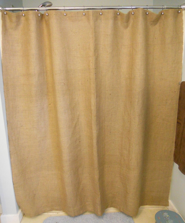 Burlap And Lace Shower Curtains Burlap shower curtain / 72 w x