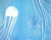 Original painting / illustration of jellyfish