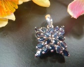 75% OFF Ceylon Blue Natural Sapphire Star Pendant, Vintage, 925 Sterling Silver (Value 700 USD)
