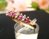 75% OFF Ruby & Diamond High-grade .33ctw Ladies Ring, 14k Gold. (Value 1,800 USD)