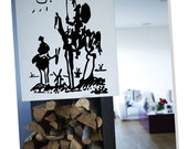 """Wall Art inspired by Picasso's """"Don Quixote"""" vinyl wall decal for your livingroom and bedroom wall art decor (ID: 111003)"""