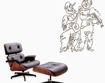 Wall Art inspired by Picasso's violinists (les violonistes) vinyl wall decal  (ID: 111032)