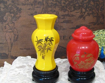 Set of 2 - Vintage Avon Oriental Perfume Bottles (1977)