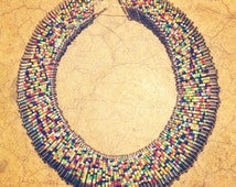 Beaded Safety Pin Necklace/Collar
