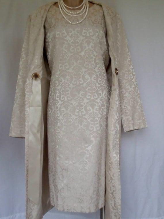 Gorgeous Brocade Dress Coat Large Designer Wedding Dress Mother of Bride