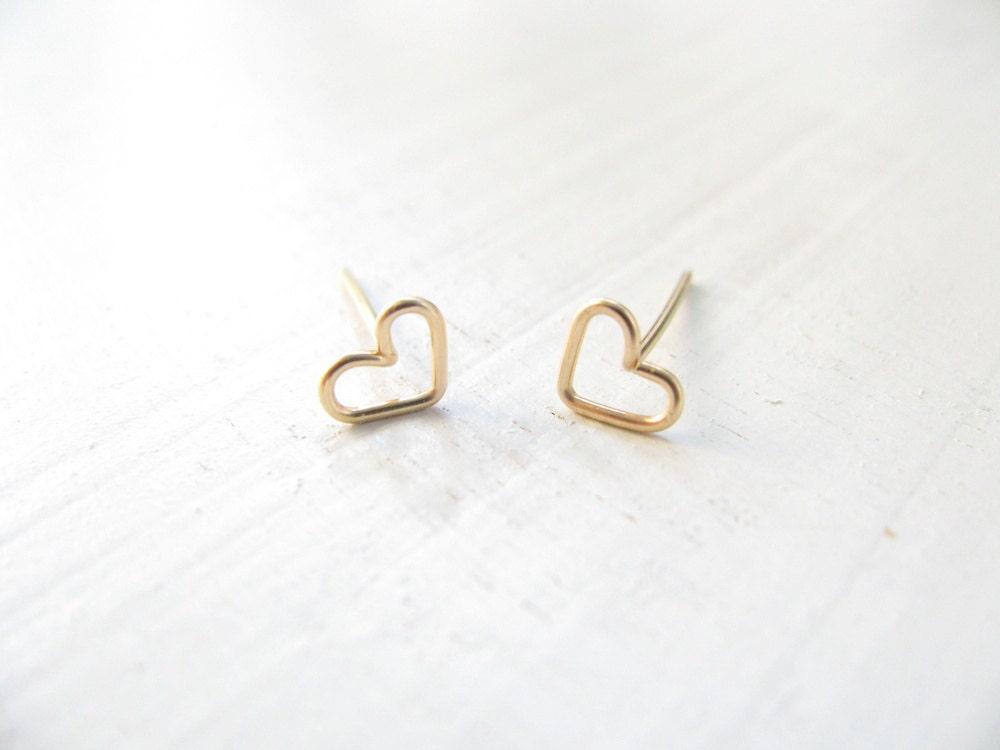 tiny gold earrings stud earrings small post