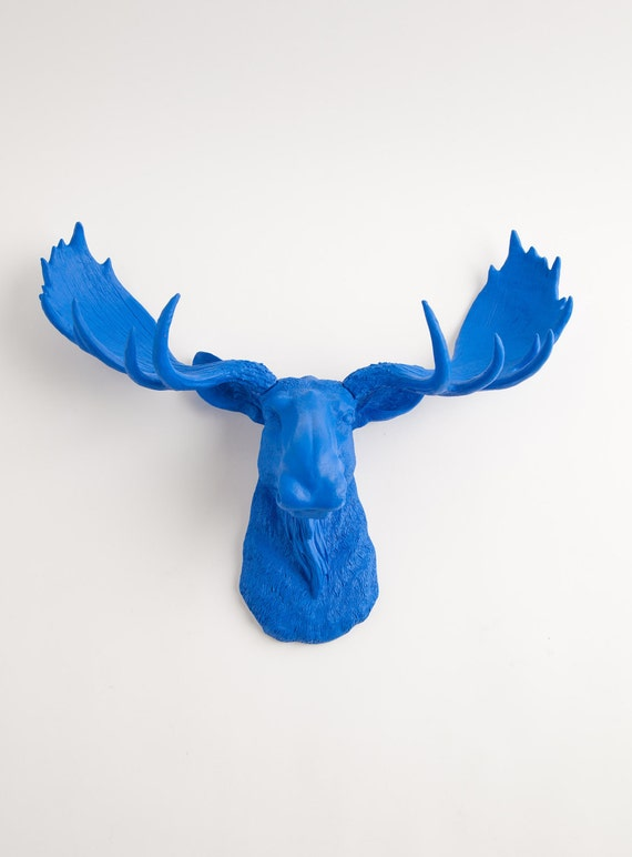 Faux taxidermy moose the maxwell resin moose head moose - Fake moose head mount ...