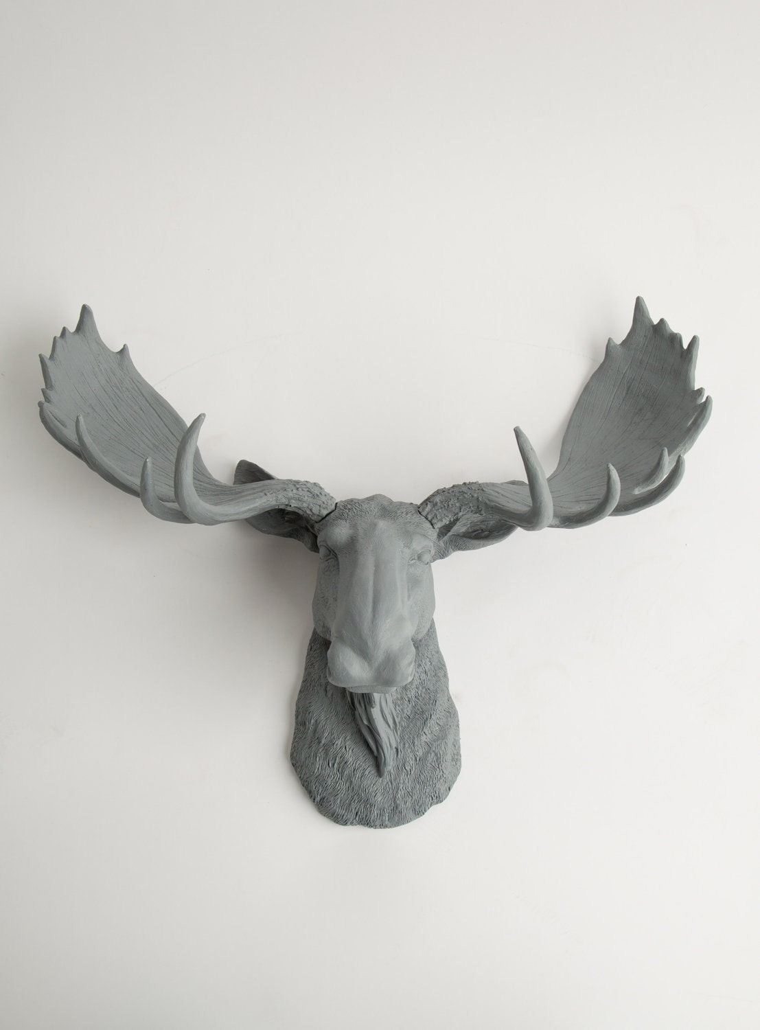 Moose head the wellington gray resin moose head moose - Fake moose head mount ...
