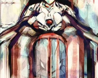 Rebuild of Evangelion Anime Shinji Ikari- signed museum quality giclée fine art print