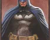 Batman Watercolor Painting