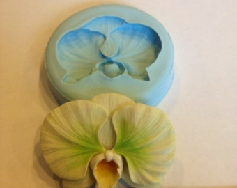 Orchid Silicone Mold (chocolate, fondant, gumpaste, sugarcraft, cake, wedding, favors, showers, party)