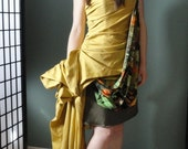 Hand Draped Asymmetrical One of a Kind Gown Size 4