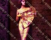 Burning Sea - Digital Collage Sheet - Aphrodite (8x10 Inch A4 Size)  - Digital Download Art