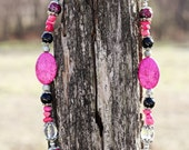 Pink and Black Chunky Cowgirl Necklace