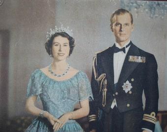 Attention all  British Monarchy Fans • Vintage Queen Elizabeth Prince Philip