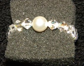 Crystal and Pearl Ring