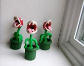 Piranha Plant Sculpture, Geek, Super Mario Bros, Nintendo, Polymer Clay