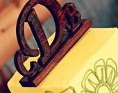 Custom Wood Monogram Cake Topper