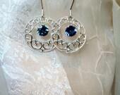 As Seen in Women in the Arts Mystic Topaz Sterling Filigree Earrings