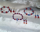 Hot 4th of July Bracelets w Free Earrings & Free Shipping
