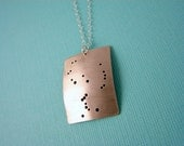 Orion constellation sterling silver necklace
