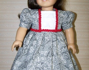 Black and White Print Dress for American Girl Dolls