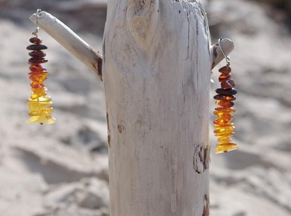 Unique Baltic Amber earrings
