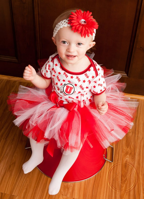 CHEER CAPTAIN, College, ProSportsTeams -- Birthday tutu, Custom Made Hand-Tied Ribbon Tutu Skirt with Free Flower Clip, Sizes Newborn-5T