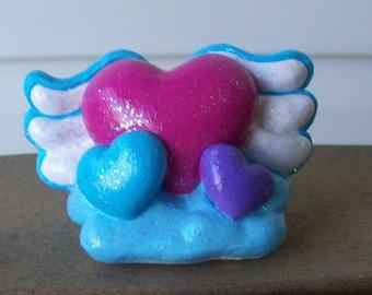 Flying Hearts Figurine